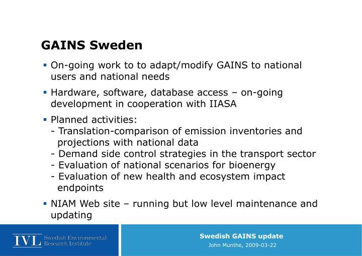 GAINS Sweden
