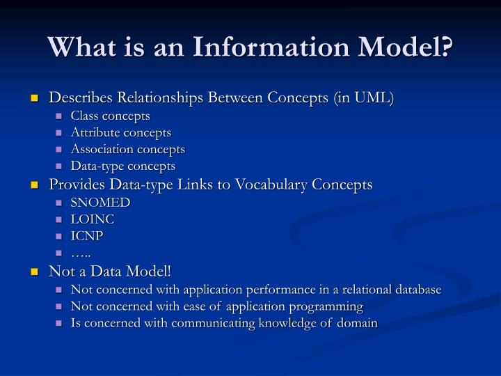 What is an Information Model?