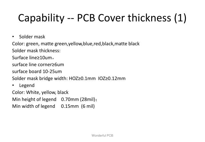 Capability -- PCB Cover thickness (1)
