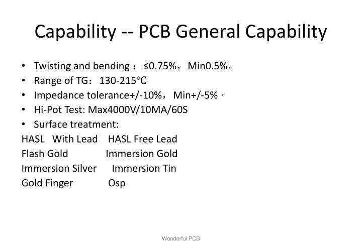 Capability -- PCB General Capability