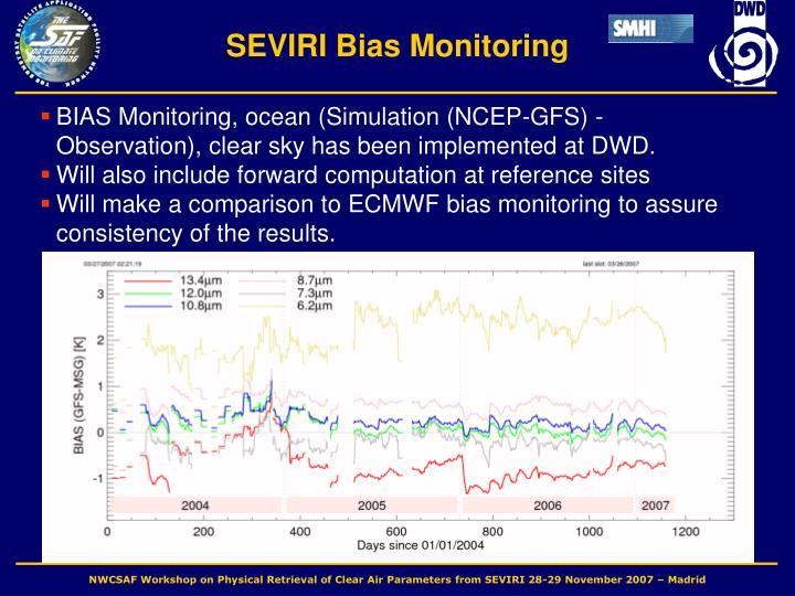 SEVIRI Bias Monitoring