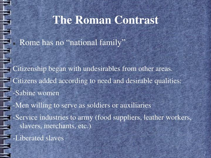 The Roman Contrast