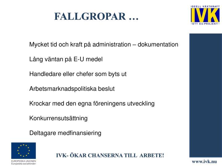 Fallgropar …