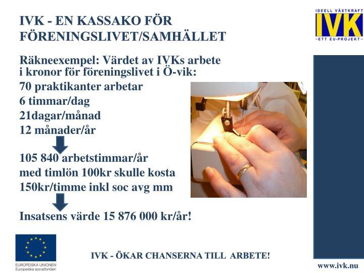 IVK - en kassako För Föreningslivet/Samhället