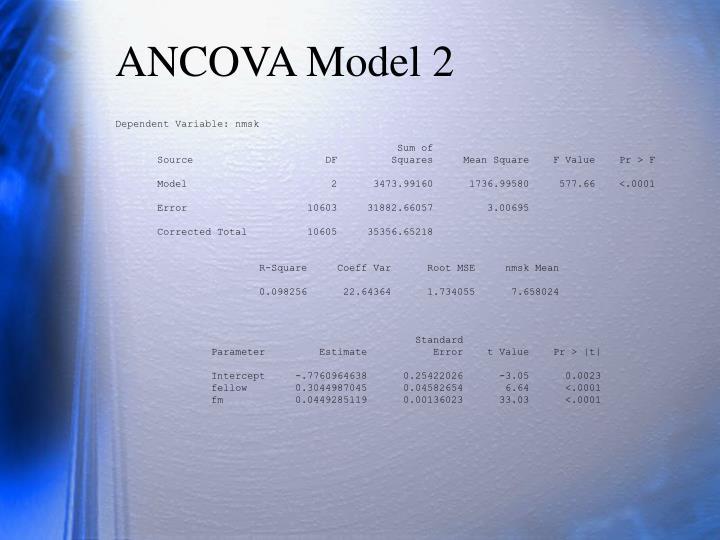 ANCOVA Model 2