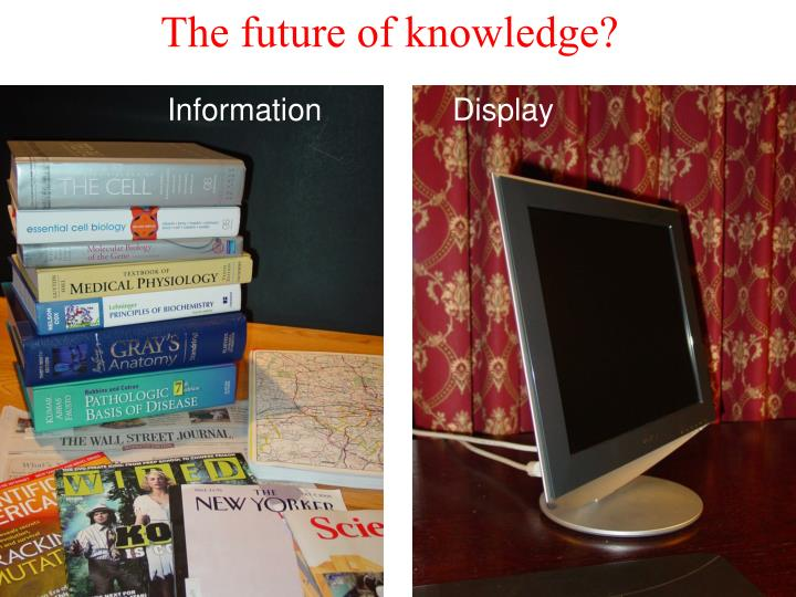 The future of knowledge?