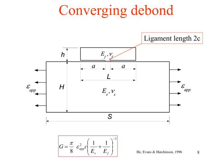 Converging debond