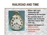railroad and time