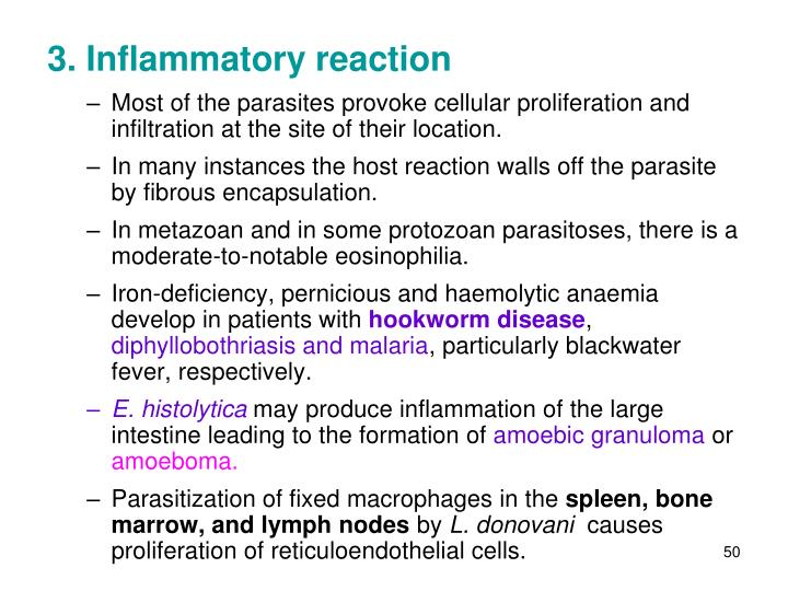 3. Inflammatory reaction