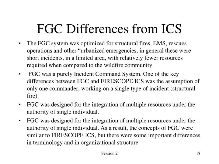FGC Differences from ICS