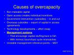 causes of overcapacity
