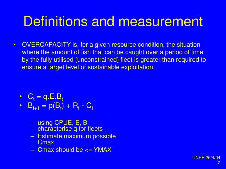 Definitions and measurement