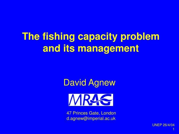 the fishing capacity problem and its management