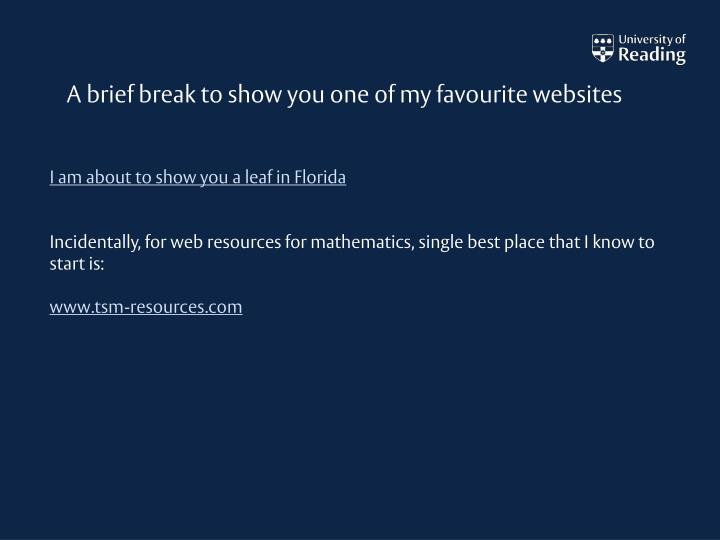 A brief break to show you one of my favourite websites
