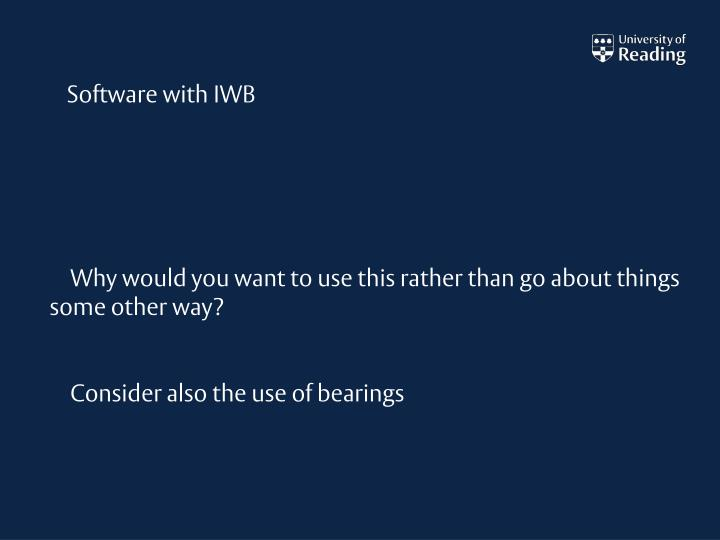 Software with IWB