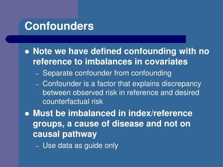 Confounders