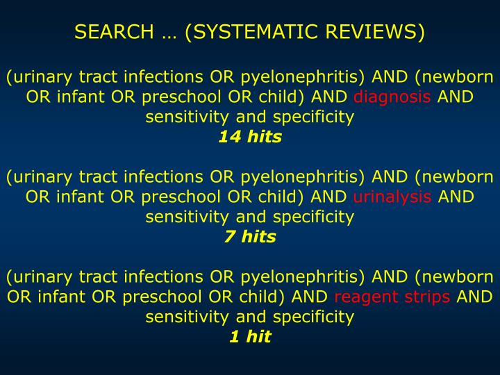 SEARCH … (SYSTEMATIC REVIEWS)