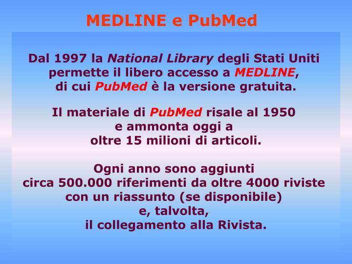 MEDLINE e PubMed