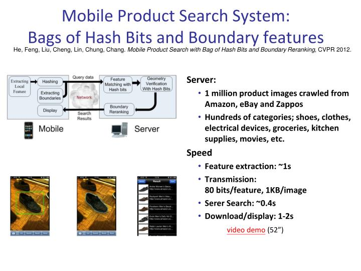 Mobile Product Search System: