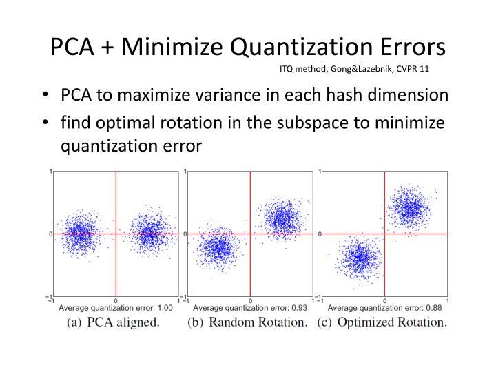 PCA + Minimize Quantization Errors