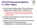 itr cov recommendations c other topics