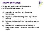 itr priority area