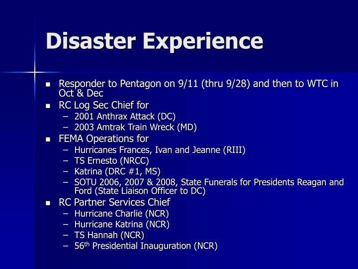 Disaster Experience