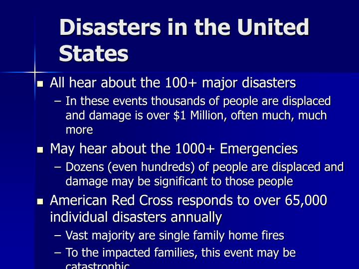 Disasters in the United States