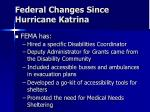 federal changes since hurricane katrina