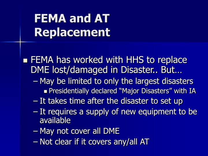 FEMA and AT Replacement