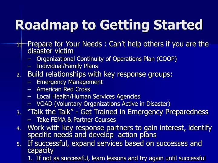 Roadmap to Getting Started