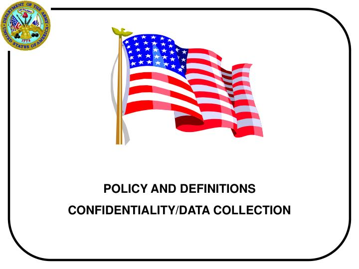 POLICY AND DEFINITIONS