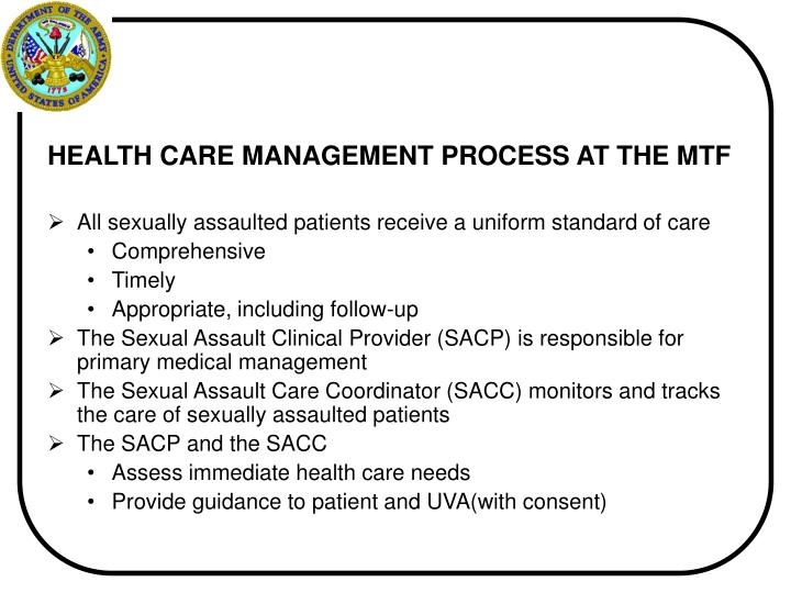 HEALTH CARE MANAGEMENT PROCESS AT THE MTF
