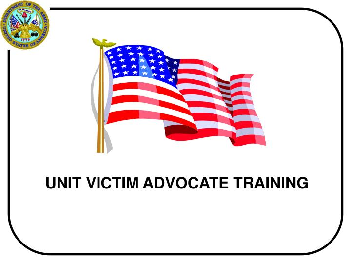 unit victim advocate training