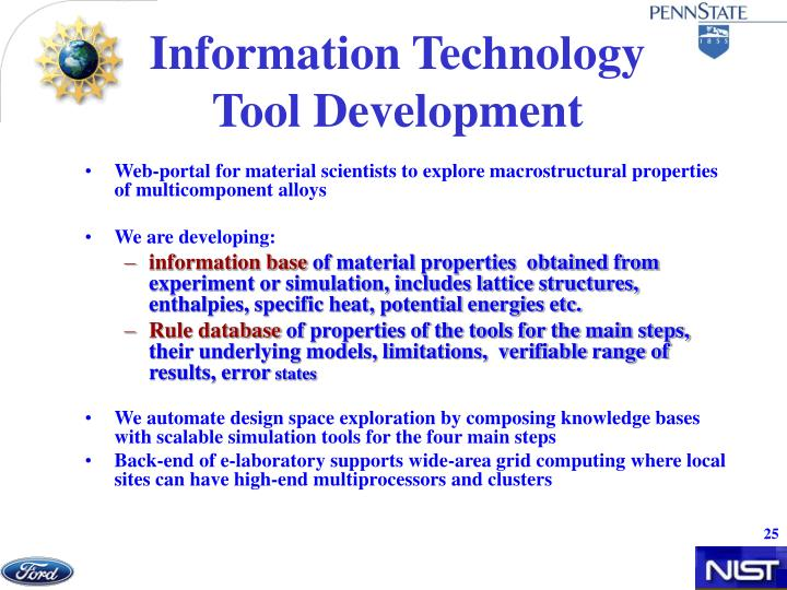 Information Technology Tool Development