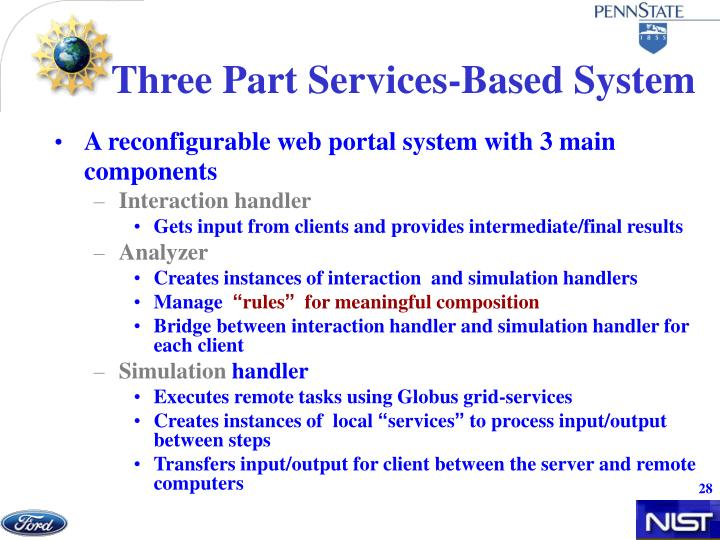 Three Part Services-Based System
