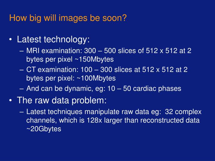 How big will images be soon?