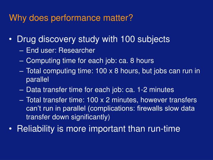 Why does performance matter?