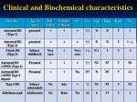 clinical and biochemical characteristics