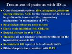 treatment of patients with bs 3