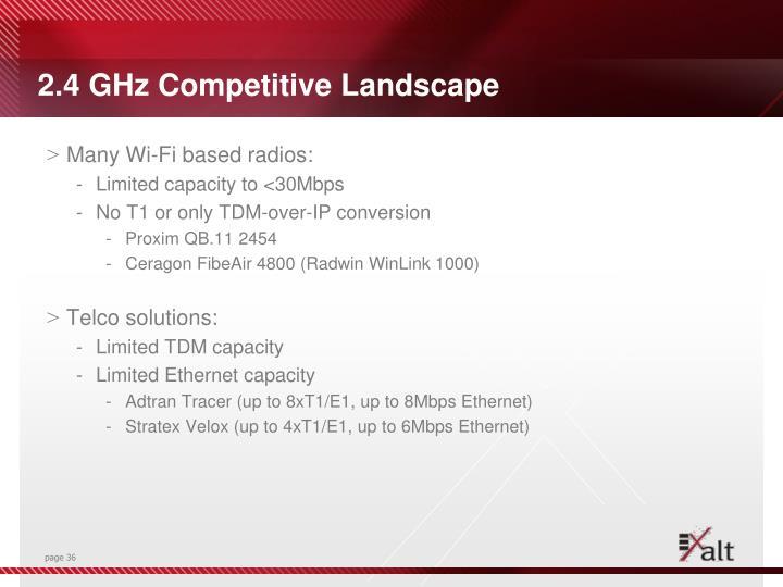 2.4 GHz Competitive Landscape