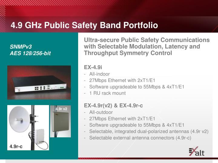 4.9 GHz Public Safety Band Portfolio