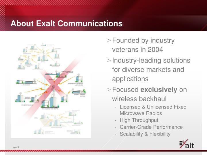 About Exalt Communications