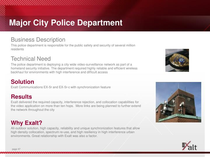 Major City Police Department