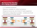 monitored hot standby ex s series licensed
