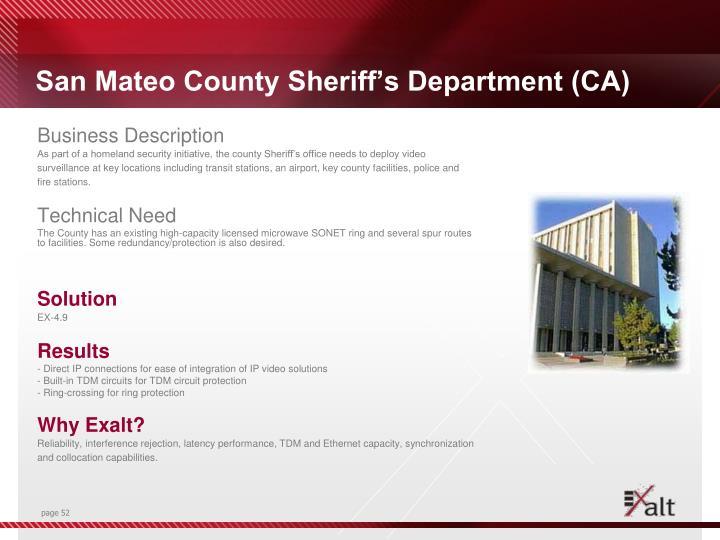 San Mateo County Sheriff's Department (CA)