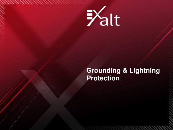 Grounding & Lightning Protection