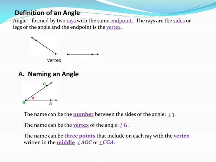 Definition of an Angle