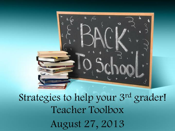 strategies to help your 3 rd grader