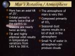 mar s rotation atmosphere